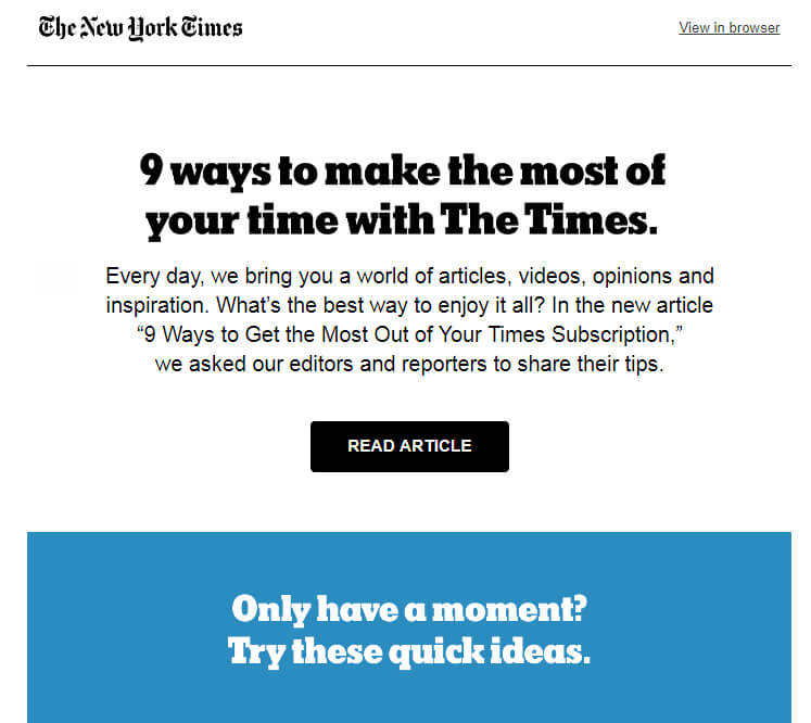 New York Times email